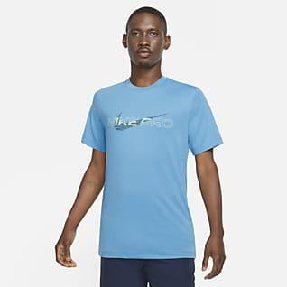Nike Pro Dri-FIT Mintás férfipóló