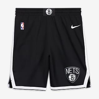 Brooklyn Nets Icon Edition Nike NBA Swingman-shorts för män