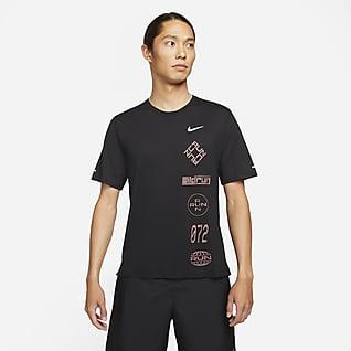 Nike Dri-FIT Miler Wild Run 男款圖樣跑步上衣