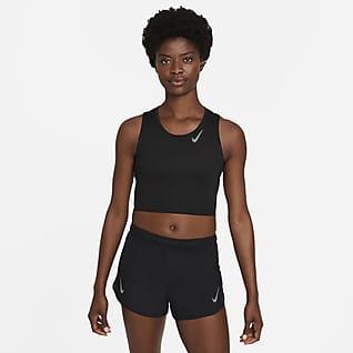 Nike Dri-FIT Race Γυναικείο φανελάκι crop για τρέξιμο