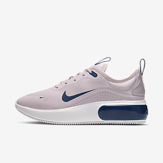 Womens Nike Air Max Pink Grey Black Running Shoes | Nike air