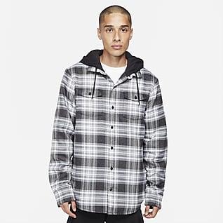 Nike SB Camiseta de skateboarding de franela para hombre