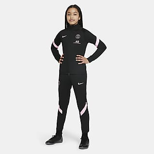 Paris Saint-Germain Strike Away Футбольный костюм для школьников Nike Dri-FIT