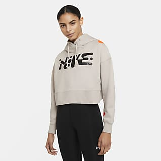 Nike Women's Cropped Pullover Training Hoodie