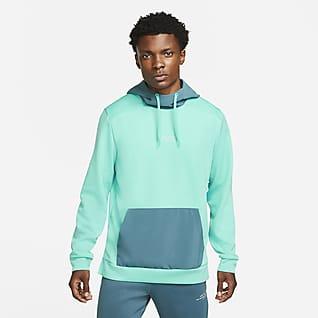 Nike Dri-FIT Ανδρική φλις μπλούζα προπόνησης με κουκούλα