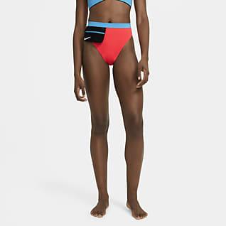 Nike Women's Color-Block High-Waist Swim Bottom