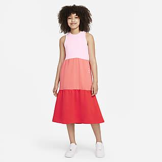 Nike Sportswear Vestido de French Terry para niña talla grande