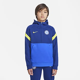 Chelsea FC Nike Dri-FIT Genç Çocuk Kapüşonlu Futbol Üstü