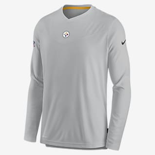 Nike Dri-FIT Sideline Coaches (NFL Pittsburgh Steelers) Men's Long-Sleeve V-Neck T-Shirt