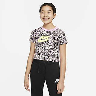 Nike Sportswear Older Kids' (Girls') Printed Crop Top