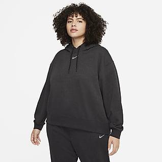 Nike Sportswear Collection Essential Sudadera con gorro de tejido Fleece sencillo para mujer talla grande