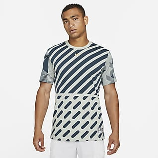 Serena Design Crew Tee-shirt de tennis à motif