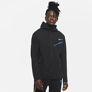 Ίντερ Tech Pack Ανδρική μπλούζα με κουκούλα και φερμουάρ σε όλο το μήκος