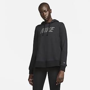 Nike Dri-FIT Γυναικεία μπλούζα προπόνησης με κουκούλα και σχέδιο