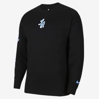 Los Angeles Lakers Courtside City Edition Nike NBA-T-skjorte til herre
