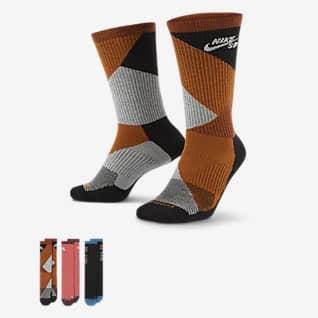 Nike SB Everyday Max Lightweight ถุงเท้าสเก็ตบอร์ดข้อยาว (3 คู่)