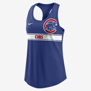 Nike Dri-FIT Cropped Logo (MLB Chicago Cubs) Women's Racerback Tank Top