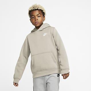 Nike Sportswear Club Φούτερ με κουκούλα για μεγάλα παιδιά