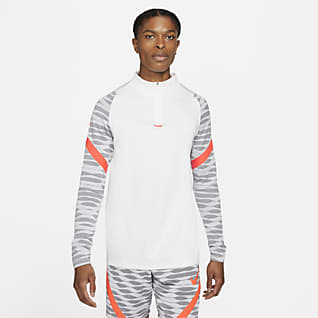 Nike Dri-FIT Strike 男款 1/4 開襟式足球訓練上衣