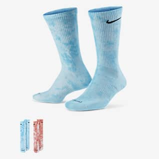 Nike Everyday Plus Cushioned Tie-Dye Crew Socks (2 Pairs)