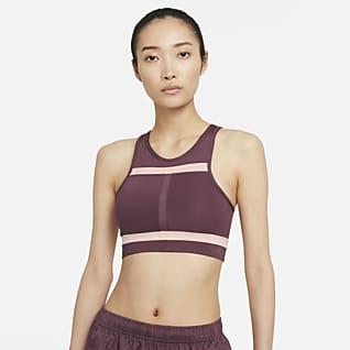 Nike Dri-FIT Swoosh Run Division สปอร์ตบราผู้หญิงซัพพอร์ตระดับกลางช่วงตัวยาวมีแผ่นฟองน้ำ 1 ชิ้น