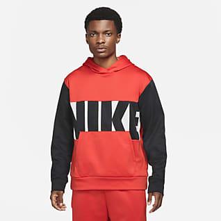 Nike Therma-FIT Felpa pullover da basket in fleece con cappuccio - Uomo