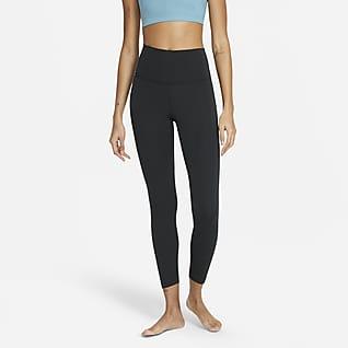 Nike Yoga Women's High-Waisted 7/8 Crochet Edge Leggings