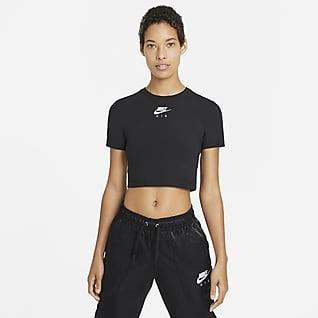 Nike Air Kortärmad kort tröja för kvinnor