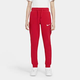 Nike Sportswear Swoosh Παντελόνι φλις για μεγάλα αγόρια