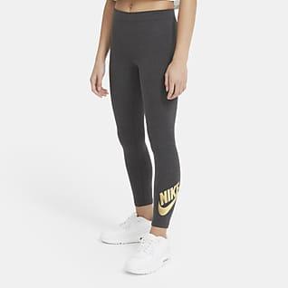 Nike Sportswear Leggings med tryck för ungdom (tjejer)