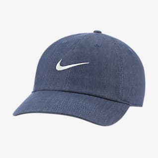 Nike Sportswear Heritage86 Swoosh Cappello in denim