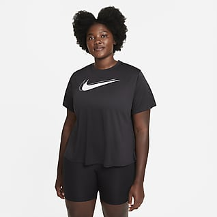 Nike Dri-FIT Swoosh Run Camiseta de running para mujer (talla grande)