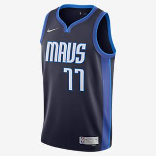 Dallas Mavericks Earned Edition Men's Nike NBA Swingman Jersey
