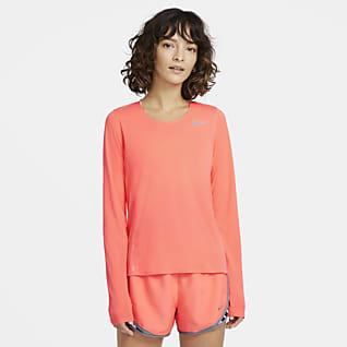 Nike Женская беговая футболка с длинным рукавом
