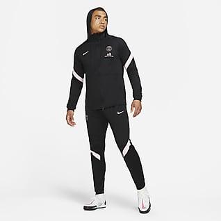 Paris Saint-Germain Strike (wersja wyjazdowa) Męski dres piłkarski Nike Dri-FIT