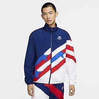Nike Throwback เสื้อแจ็คเก็ตชุดวอร์มบาสเก็ตบอลผู้ชาย