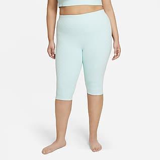 Nike Yoga Luxe Leggings Capri de cintura alta jacquard talla grande para mujer
