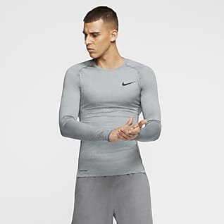 Nike Pro Męska koszulka z długim rękawem i o przylegającym kroju