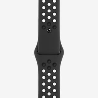 45 毫米煤黑/黑色 Nike 运动表带 - 标准号