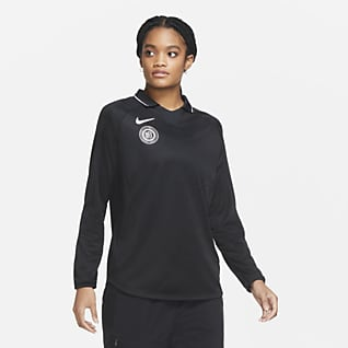 Nike F.C. Camiseta de fútbol de manga larga para mujer