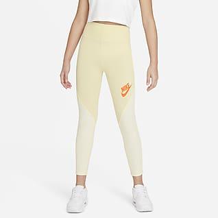 Nike Sportswear Favorites Leggings med høj talje til store børn (piger)