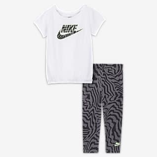 Nike Σετ εμπριμέ μπλούζα και κολάν για βρέφη (12-24M)
