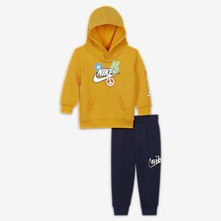 Nike Conjunto de sudadera con gorro y pants para bebé (12 a 24 M)