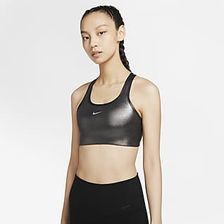 Nike Swoosh Icon Clash Shimmer 女子中强度支撑运动内衣