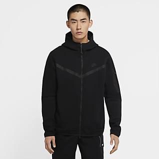Nike Sportswear Tech Fleece Hosszú cipzáras, kapucnis férfipulóver