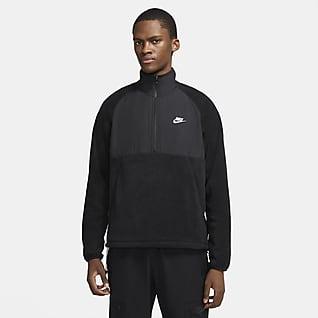Nike Sportswear Sudadera de medio cierre acondicionada para el invierno para hombre