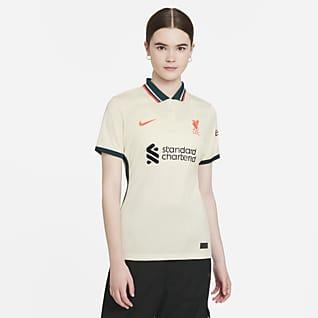 Liverpool FC 2021/22 Stadium (bortaställ) Fotbollströja Nike Dri-FIT för kvinnor