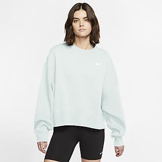 Nike Sportswear Essential Fleecetröja med rund hals för kvinnor