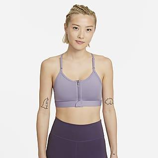 Nike Dri-FIT Indy Zip-Front 女子低强度支撑衬垫运动内衣
