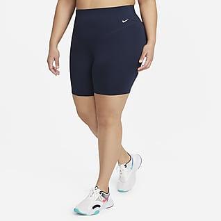 Nike One Radshorts mit mittelhohem Bund für Damen (ca. 18 cm) (große Größe)